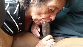 Cock crazed granny giving head