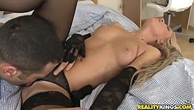 Blonde Tony loves getting her eager hands