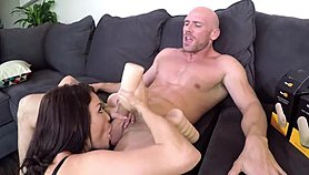 Kissa and Johnny Sins Blowjob and Handjob using Pornhub Strokers